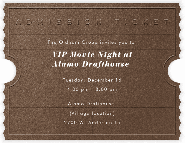 Alamo Draft House Movie Night | The Oldham Group