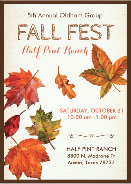 5th Annual Fall Festival