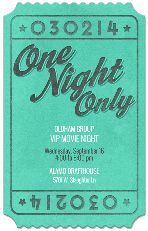 Oldham Group VIP Movie Night