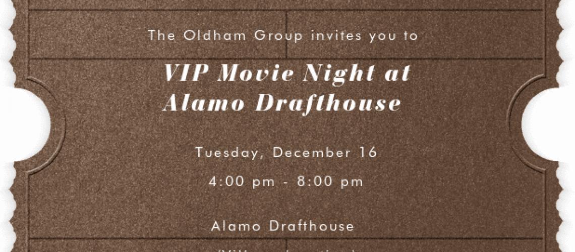 Alamo Draft House Movie Night   The Oldham Group